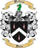 Watkens Family Coat of Arms from Wales