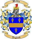 Watkin Family Coat of Arms from England