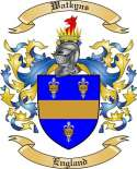 Watkyns Family Coat of Arms from England