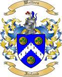 Watters Family Crest from Ireland