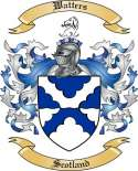 Watters Family Crest from Scotland