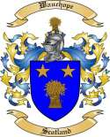 Wauchope Family Coat of Arms from Scotland