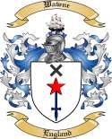 Wawne Family Crest from England