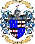 Waye Family Crest from England