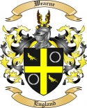 Wearne Family Crest from England