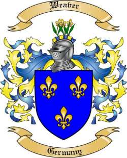 Weaver Family Crest From Germany By The Tree Maker