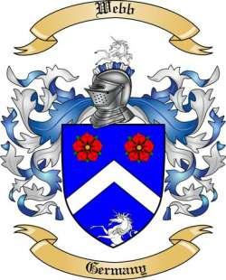 Webb Family Crest From Germany By The Tree Maker