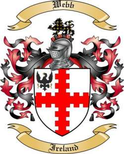 Webb Family Crest From Ireland By The Tree Maker