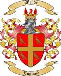 Webbe Family Coat of Arms from England