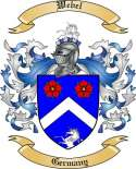 Webel Family Crest from Germany