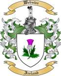 Webster Family Coat of Arms from Ireland