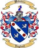 Webstere Family Coat of Arms from England