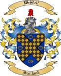 Weddell Family Crest from Scotland