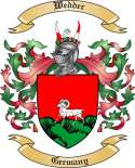 Wedder Family Coat of Arms from Germany