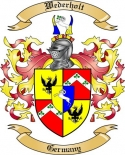 Wederholt Family Crest from Germany