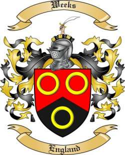 weeks family crest from england by the tree maker