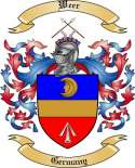Weer Family Crest from Germany