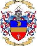 Weerssen Family Crest from Germany