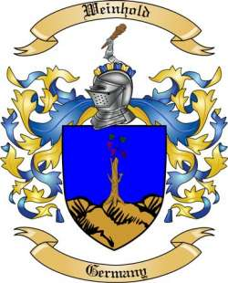 Weinhold Family Coat of Arms from Germany