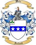 Weir Family Crest from Ireland