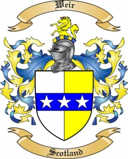 Weir Family Crest From Scotland By The Tree Maker