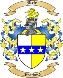 Weir Family Crest from Scotland