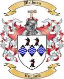 Welburn Family Coat of Arms from England