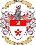 Welden Family Crest from England