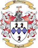 Wellbourn Family Crest from England