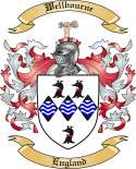 Wellbourne Family Crest from England