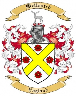 Wellested Family Coat of Arms from England