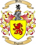 Wells Family Coat of Arms from England2