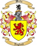 Wells Family Coat of Arms from England