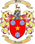 Wells Family Coat of Arms from Ireland