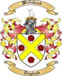 Wellshead Family Crest from England