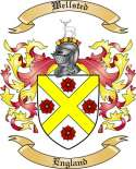 Wellsted Family Crest from England