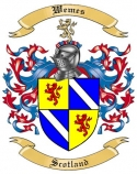 Wemes Family Crest from Scotland