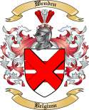 Wenden Family Coat of Arms from Belgium