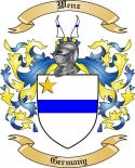 Wenz Family Coat of Arms from Germany