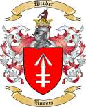Werber Family Coat of Arms from Russia