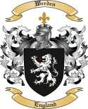 Werden Family Coat of Arms from England