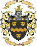West Family Coat of Arms from England