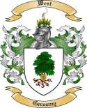 West Family Coat of Arms from Germany