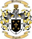 Westbury Family Coat of Arms from England