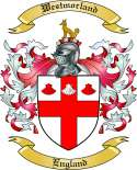 Westmorland Family Coat of Arms from England