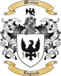 Weston Family Coat of Arms from England