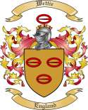 Wettie Family Crest from England