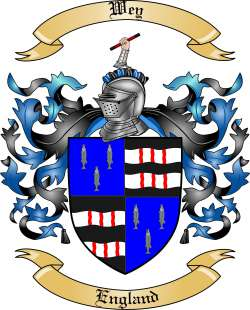 Wey Family Crest from England