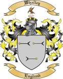 Whalley Family Coat of Arms from England