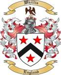 Whillis Family Crest from England